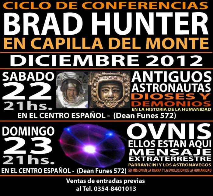 Ciclo de conferencias de Brad Hunter en Capilla del Monte